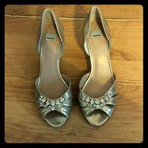 BHLDN hiterto gold heels